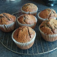 'Leftover Blueberry Bits and Raspberry Seed Muffins'